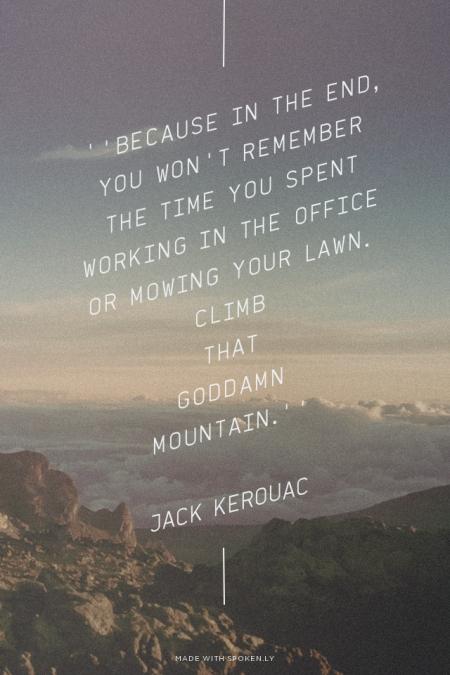 jack kerouac that mountain